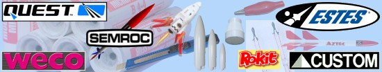 Modelrocket-Shop.com | WECO | Estes | Custom Rockets | Quest | Semroc | Rocketarium | AltimeterOne | AltimeterTwo | Altim1 | Decals | Rokit | Mini DV Camera